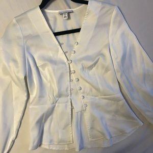 🤩BNWOT TOPSHOP button down peplum blouse